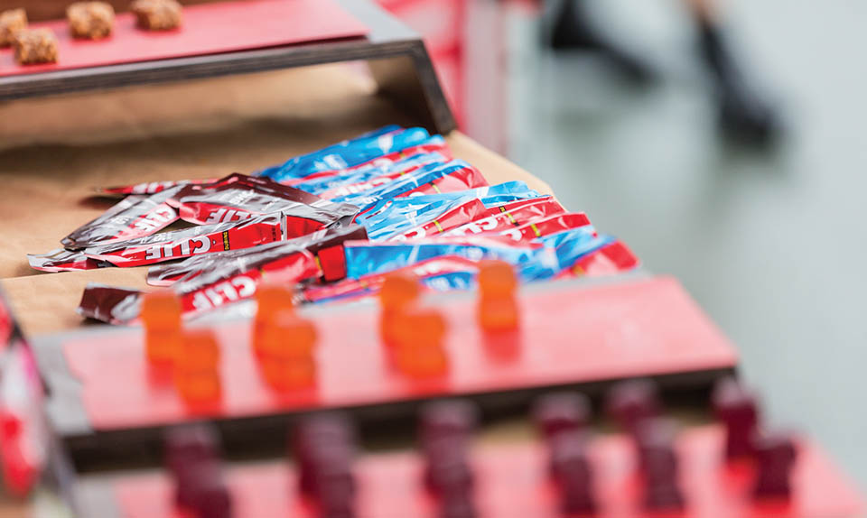 Clif bloks and shot gels at RBC GranFondo Whistler